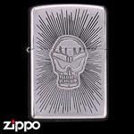 Skull Zippo - Etched Poison  (Halo)