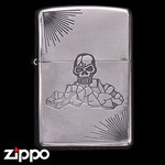 Skull Zippo - Etched Poison  (Rock)