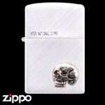 Skull Zippo - The Dead Don't Speak  (Silver)