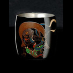 Titanium Japanese Lacquer Cup by Rhus  (God of the Wind)