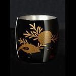 Titanium Japanese Lacquer Cup by Rhus  (Ocean Floor)