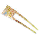 Titanium Hair Stick  (Yuzen Peach)