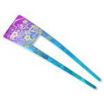 Titanium Hair Stick  (Yuzen Violet)