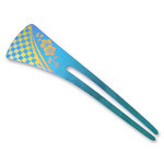 Titanium Hair Stick  (Blue)
