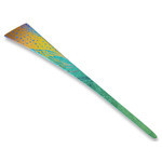 Titanium Hair Stick  (Milky Way - Green)