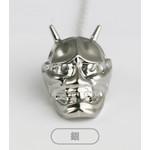 Titanium Hannya Tie Pin  (Silver)