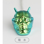 Titanium Hannya Tie Pin  (Fire Green)