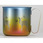Titanium Mug Cup - Deer  (Autumn)
