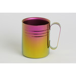 Double-Walled Titanium Mug Cup - Medium with Handle  (Pink Gold)