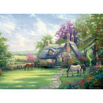 Thomas Kinkade - A Perfect Summer Day 2000 Small Piece Jigsaw Puzzle