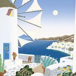 Thomas McKnight - Mykonos windmills 1020 Piece Jigsaw Puzzle
