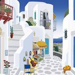 Thomas McKnight - Chora Streets 1020 Piece Jigsaw Puzzle