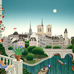Thomas McKnight - Banks of the Seine 1020 Piece Jigsaw Puzzle