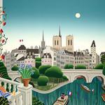 Thomas McKnight - Banks of the Seine 1020 Piece Jigsaw Puzzle