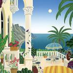 Thomas McKnight - Sunday Balcony 1020 Piece Jigsaw Puzzle