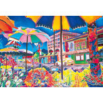 Jennifer Markes - Streetside Umbrella 2000 Small Piece Jigsaw Puzzle
