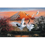 Dancing Cranes - Japanese Design 1000 Piece Jigsaw Puzzle