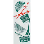 Comb and Kanzashi - Tenugui