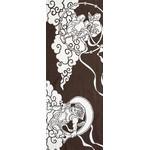 Gods of Wind and Thunder - Tenugui (Japanese Multipurpose Hand Towel) - Bistre Brown