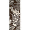 Lion and Poeny - Tenugui (Japanese Multipurpose Hand Towel) - Brown