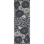 Arabesque Chrysanthemum - Tenugui (Japanese Multipurpose Hand Towel) - Indigo