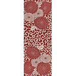 Arabesque Chrysanthemum - Tenugui (Japanese Multipurpose Hand Towel) - Crimson