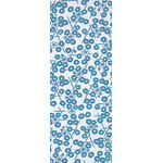 Morning Glory in the Summer - Mini Tenugui (Japanese Multipurpose Hand Towel) - Blue