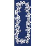 Hibiscus - Mini Tenugui (Japanese Multipurpose Hand Towel) - Blue