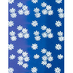 Flowers - Mini Tenugui (Japanese Multipurpose Hand Towel) - Blue
