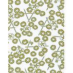 Morning Glory - Mini Tenugui (Japanese Multipurpose Hand Towel) - Yellow