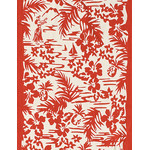 Hula - Mini Tenugui (Japanese Multipurpose Hand Towel) - Red
