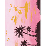 Sunset - Mini Tenugui (Japanese Multipurpose Hand Towel)