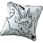Dragon Cushion  - White