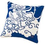 Gods of Wind and Thunder Cushion  - Blue