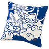 Gods of Wind and Thunder Cushion  - Blue
