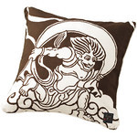 Gods of Wind and Thunder Cushion  - Brown