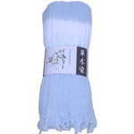 Naturally Dyed Cotton Scarf  - Gardenia Blue