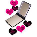 8 Mini-Light Compact Vanity Mirror by AdHoc (White)