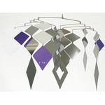 MOBIO Diamond Hanging Mobile (Silver/Purple)