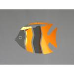 MOBIO Mini Angel Fish Hanging Mobile (Orange/Silver)