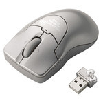ELECOM Hello Kitty Wireless Laser Mouse (Silver)