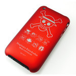 iPhone 3G/3GS Shell Jacket One Piece Jolly Roger (Red)