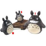 Smiling  O-Totoro Plush Dark Gray (L)