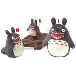 Roaring O-Totoro Plush Dark Gray (L)