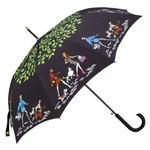 Totes - 8 Rib Auto Open Signature Stick GP Umbrella (Girl Series-Walking The Dog)