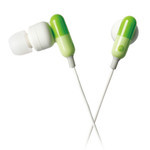 ELECOM - Sundries Drugs - Capsule Style Earphones EHP-CIN50GN (Green)