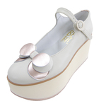 BELLY BUTTON No.924 / Ivory-Pink Platforms