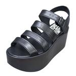 BELLY BUTTON No.130 / Black Platform Sandals