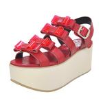 BELLY BUTTON No.931 / Red Platform Sandals