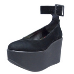 BELLY BUTTON No.211 / Black Nubuck Ankles Platforms